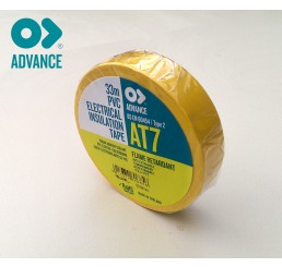 Advance AT7 19mm x 33m PVC Tape - Yellow