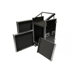 Shelved 14U Mixer Roll Case