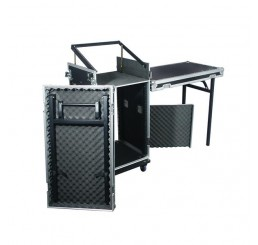 Twin Table 16U DJ Rack Case