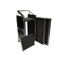 Shelved 18U Mixer Roll Case