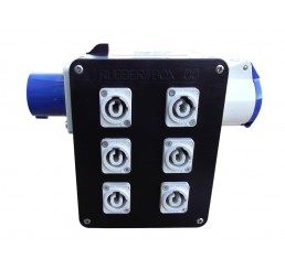 16 Amp Inlet - 6 x Powercon Sockets