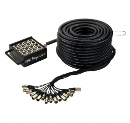 12 Send/4 Return XLR Stage Box - 30m
